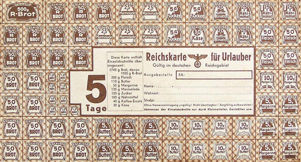 Niemieckie Kartki Żywnościowe - 10 Ciekawostek z Frontów II Wojny Światowej