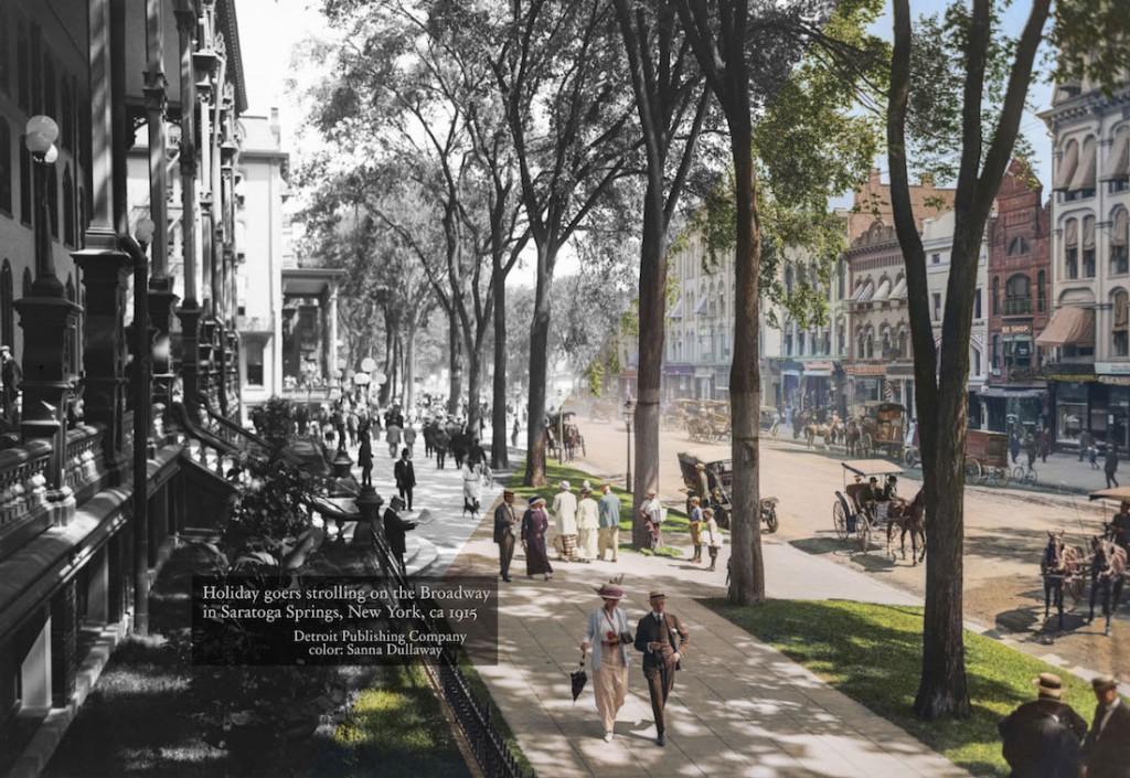 Przykład koloryzacji zdjęcia, po lewej jeszcze czarno-białe, po prawe już kolorowe - Autor: Sanna Dullaway