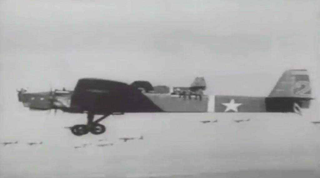 Ciężki bombowiec TB-3 - Manewry Armii Czerwonej z 1935 roku