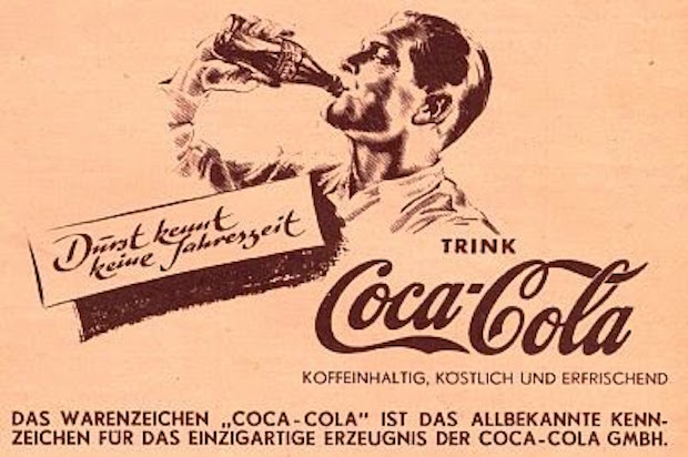 Reklama Coca-Coli z czasów III Rzeszy