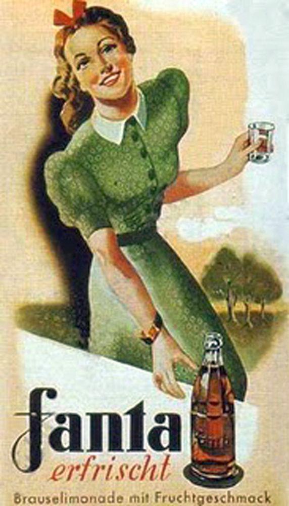 Plakat Fanta erfrischt - Fanta orzeźwia