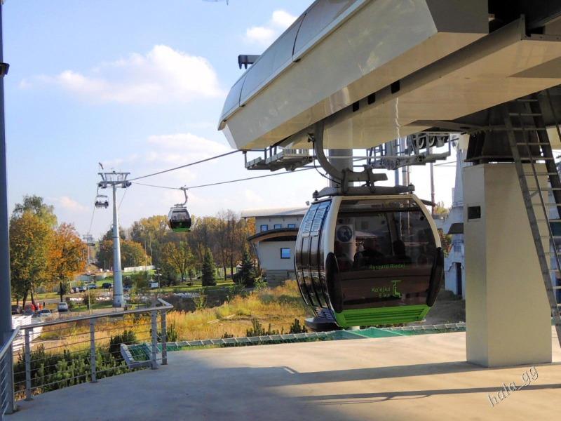 Kolejka Linowa Elka w Chorzowie - Foto: Halina Gniewkowska-Gniadek