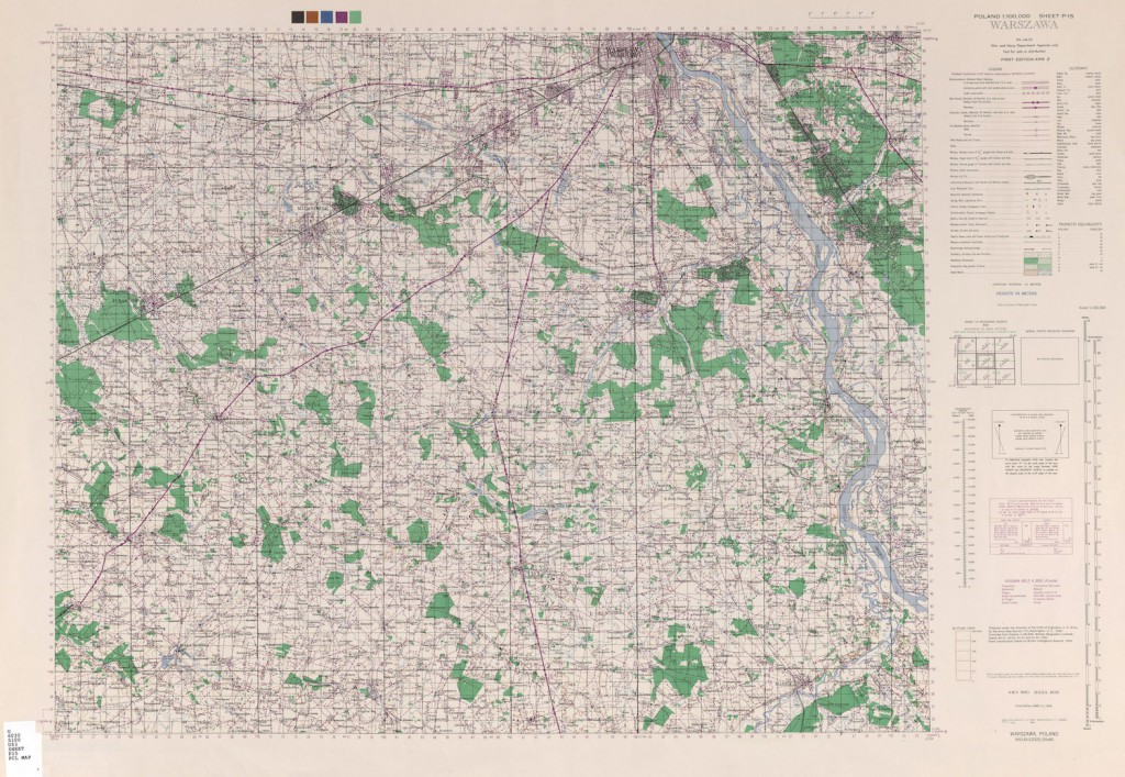 Warszawa i okolice na wojskowych mapach NATO - U.S. Army Map Service