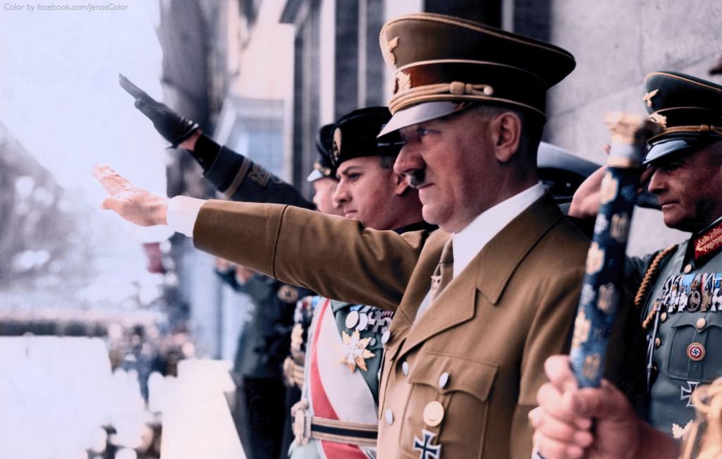 Adolf Hitler i Galeazzo Ciano - Koloryzacja zdjęcia: Jared Enos
