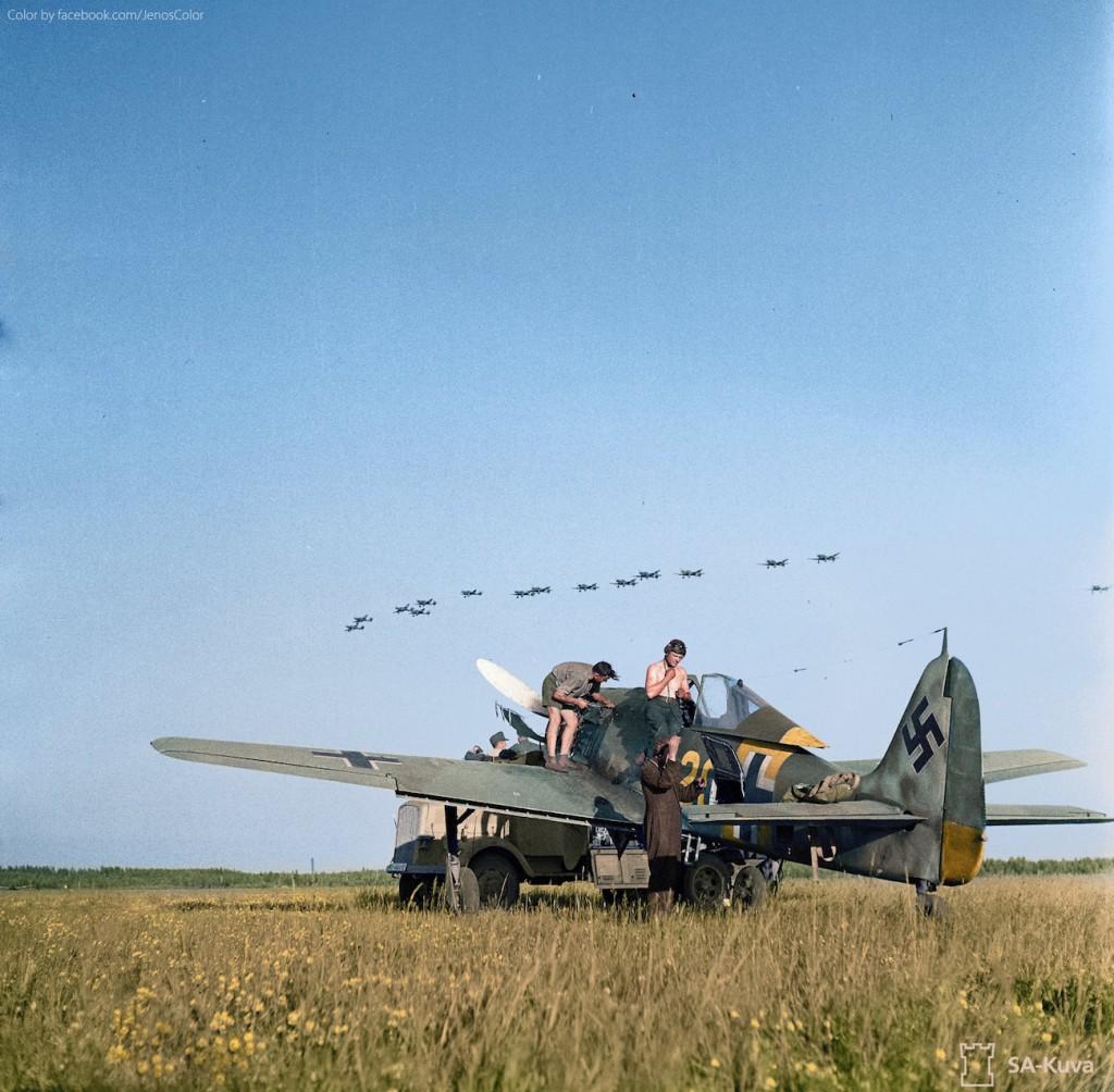 Myśliwiec Focke-Wulf Fw 190 w Finlandii - Koloryzacja zdjęcia: Jared Enos