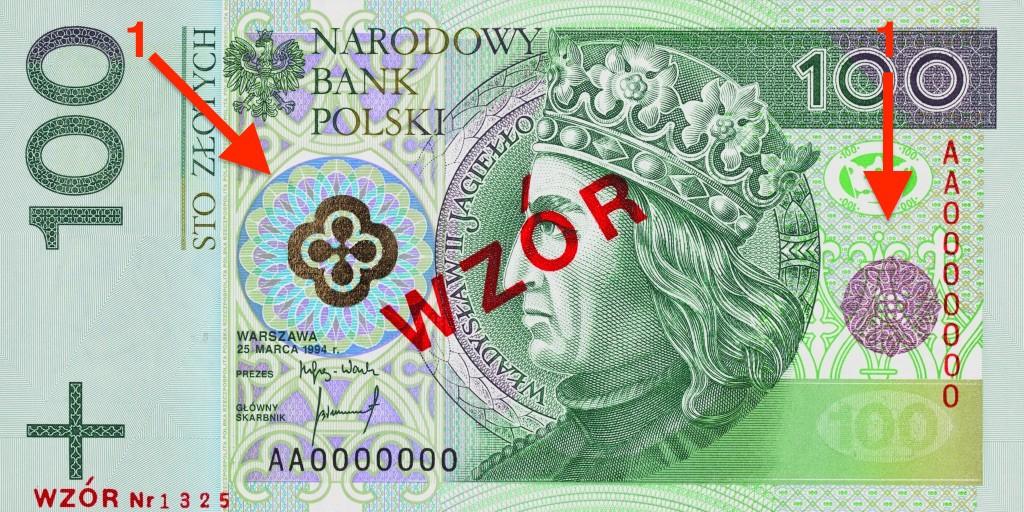 Banknot 100 zł - Ukryte Symbole i Miejsca na Polskich Banknotach - Źródło: NBP