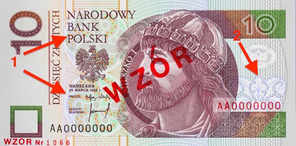 Banknot 10 zł - Ukryte Symbole i Miejsca na Polskich Banknotach - Źródło: NBP
