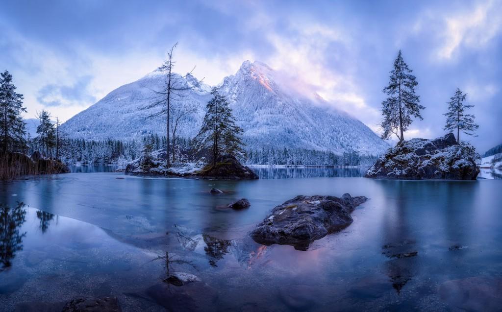 Panorama mroźnej góry, lokalizacja nieznana - Foto: ® Daniel Fleischhacker, Germany, Shortlist, Open, Panoramic, 2016 Sony World Photography Awards