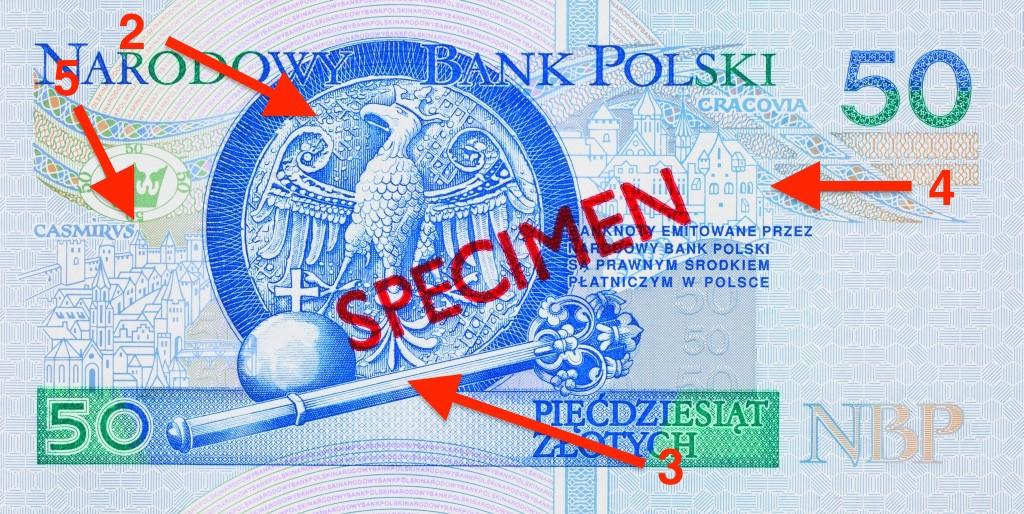 Banknot 50 zł - Ukryte Symbole i Miejsca na Polskich Banknotach - Źródło: NBP