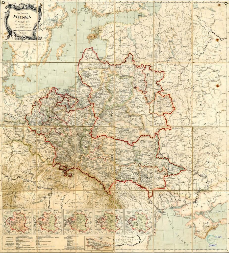 Mapa Polski w 1771 Roku - Autor: Jan Babirecki Rok wydania: 1895