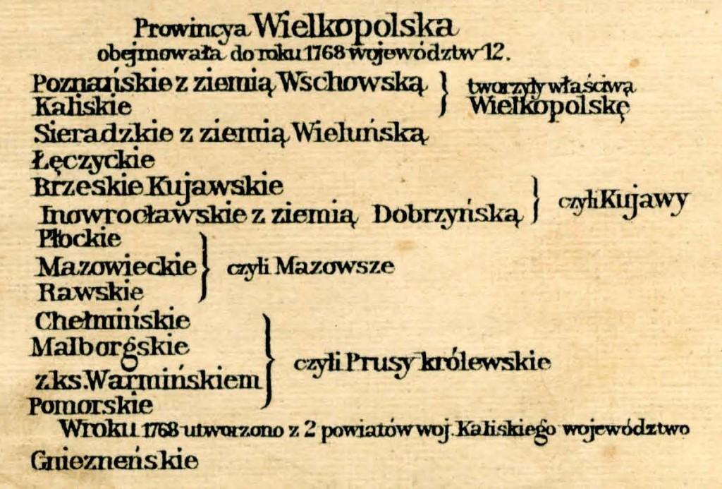 Podział Prowincji Wielkopolskiej