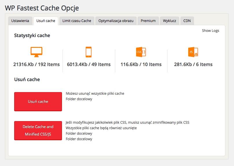 WP Fastest Cache - Najlepsze Wtyczki do WordPressa