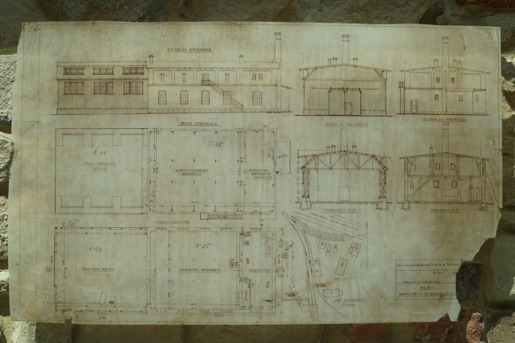 Stare plany zabytkowych browarów w Tychach