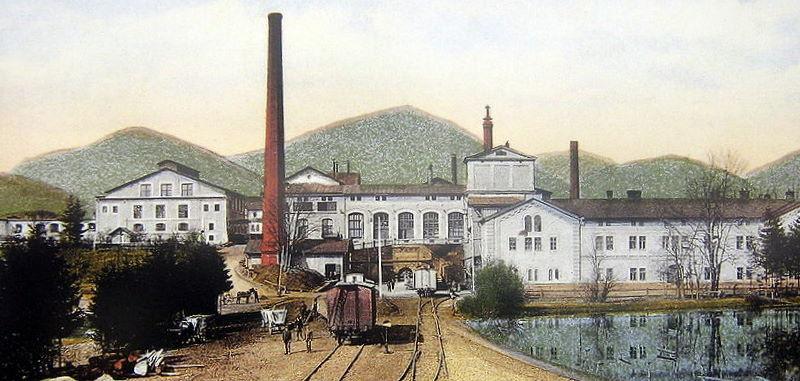 Stara panorama browarów w Żywcu