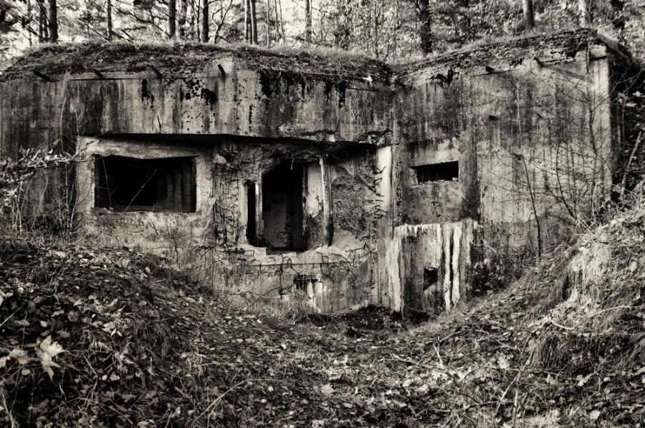 Schron Linii Mołotowa Hrebcianka - Foto: Mirosław Teterycz