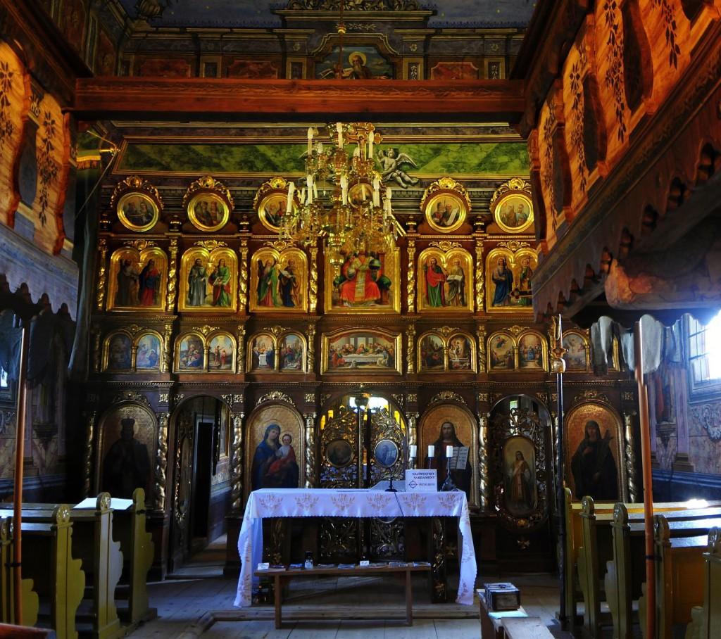 Wnętrze cerkwi w Kwiatoniu - Foto: Mirosław Teterycz
