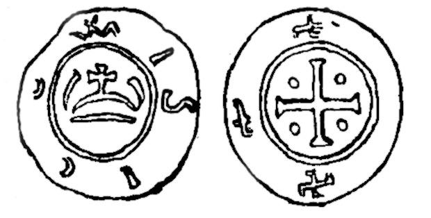 Pkt. 3, 4 - Denar z czasów Mieszka I lub Mieszka II
