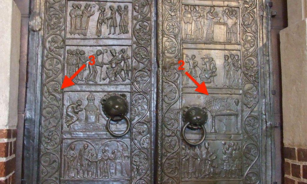 Pkt. 2, 3 - Drzwi Gnieźnieńskie - Foto: Ferdziu Źródło: commons.wikimedia.org