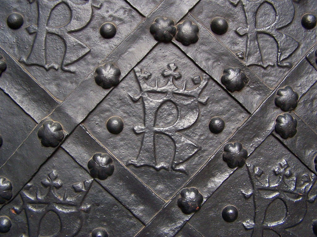 """Pkt. 1 - Litera """"K"""" na drzwiach do Katedry na Wawelu - Foto: Lestat (Jan Mehlich) Źródło: commons.wikimedia.org"""