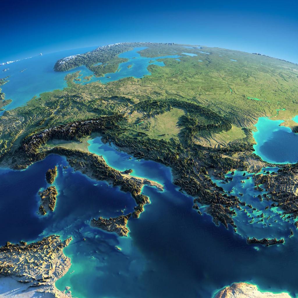Model Terenu Europy Środkowej - Źródło: Anton Balazh / NASA
