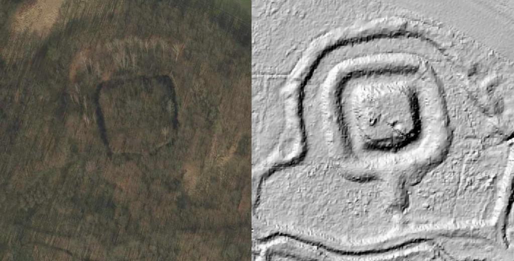 Średniowieczne grodzisko koło Maniowa - Źródło: Geoportal