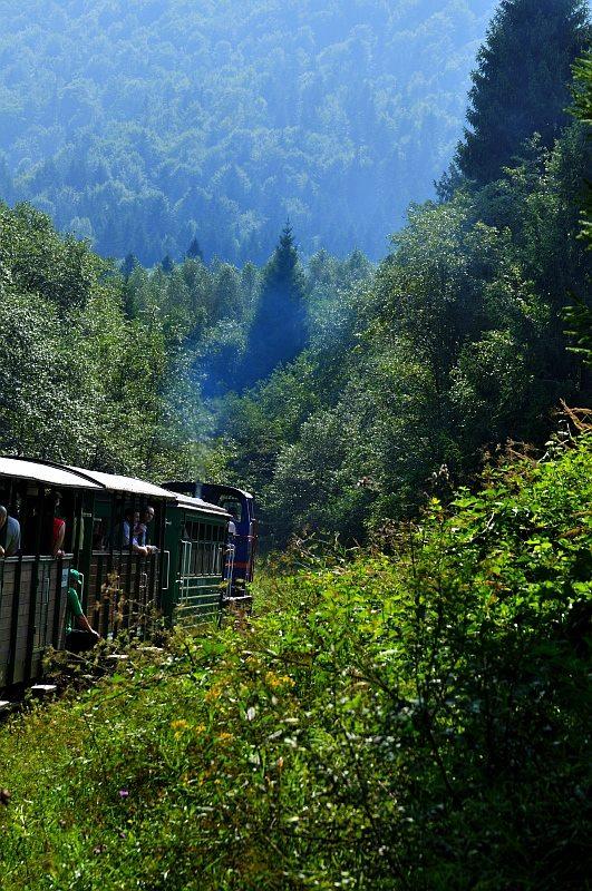 Przejazd Wąskotorową Kolejką w Bieszczadach - Foto: Mirosław Teterycz