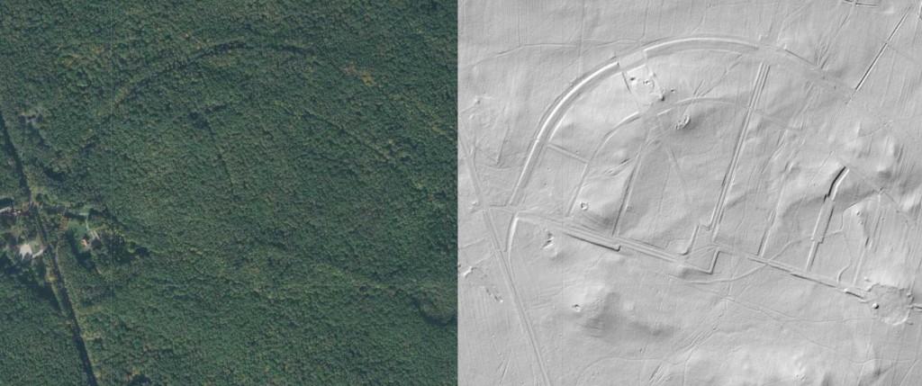 Niedokończona kolonia Łagiewniki - Źródło: Geoportal