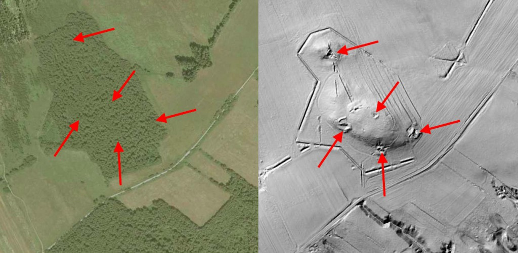 Bunkry Linii Mołotowa - 10 ukrytych niezwykłych miejsc w Polsce - Źródło: Geoportal