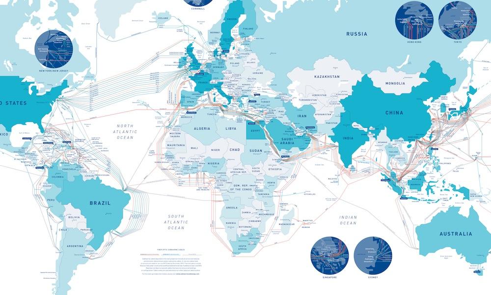 Interaktywna Mapa Sieci Podwodnych Kabli - Źródło: www.telegeography.com