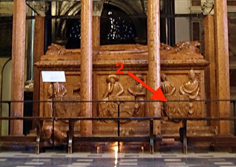 Pkt. 2 - Orzeł Biały na tarczy umieszczony na nagrobku Władysława Jagiełły - Foto: Poznaniak Źródło: commons.wikimedia.org