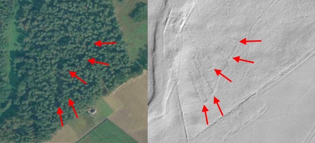 Piramidy w Wietrzychowicach - 10 ukrytych niezwykłych miejsc w Polsce - Źródło: Geoportal