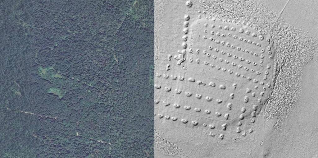 Ślady dawnego Górnictwa - Źródło: Geoportal