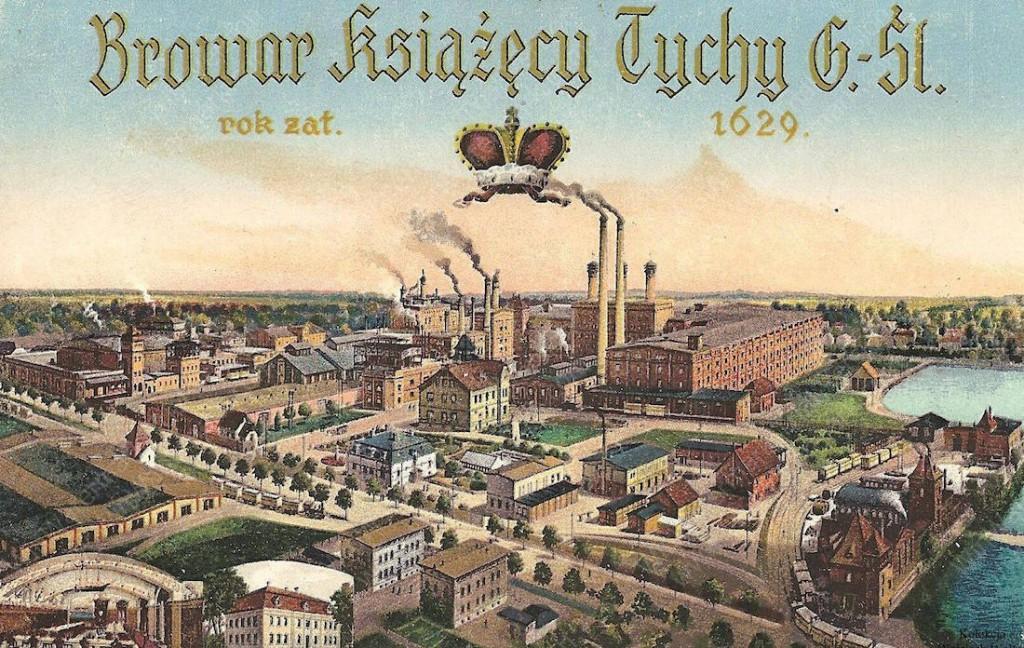 Stara panorama browarów książęcych w Tychach - Zbiory: Fundacja Księżnej Daisy von Pless