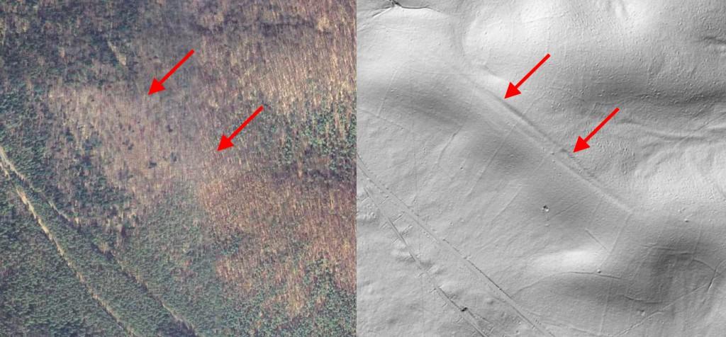 Uskok Tektoniczny na Roztoczu - 10 Ukrytych Niezwykłych Miejsc w Polsce - Źródło: Geoportal