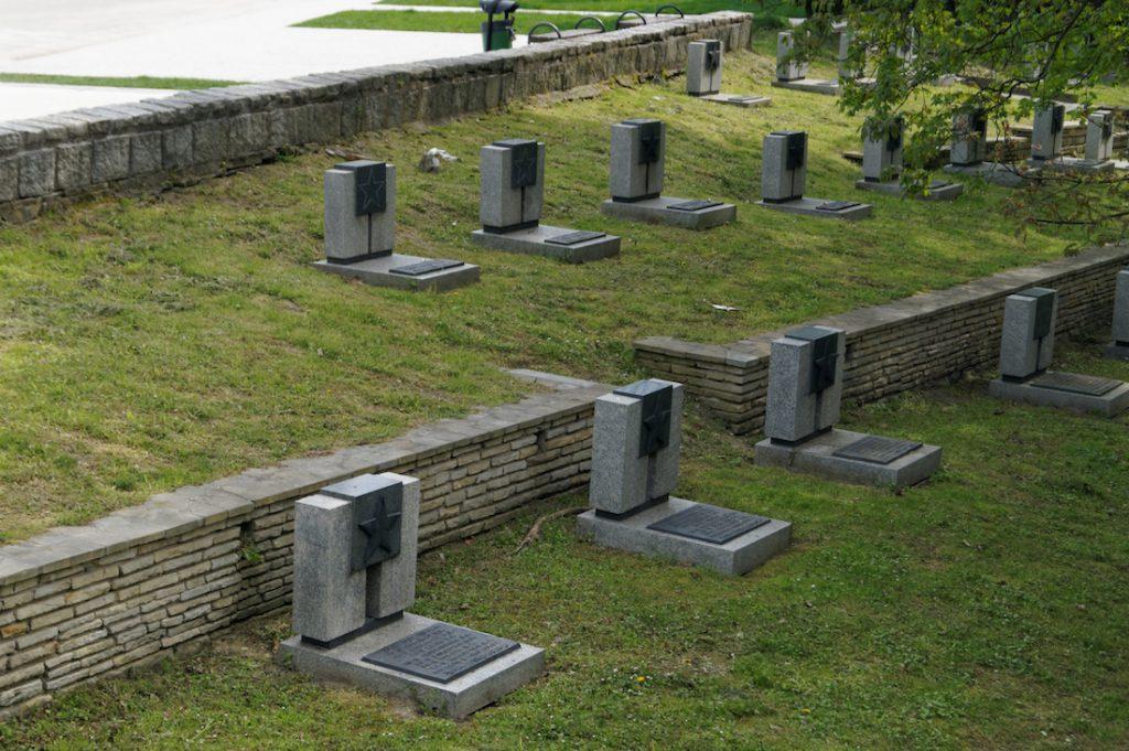 W parku zlokalizowany jest cmentarz żołnierzy Armii Czerwonej