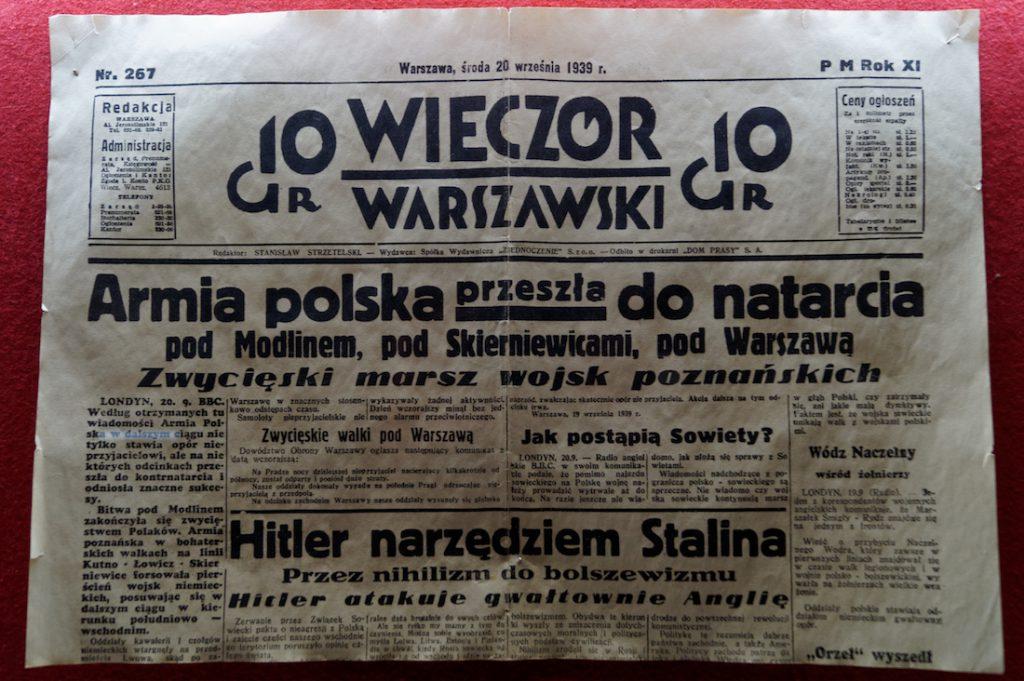 Archiwalna prasa z września'39 - wojenna propaganda