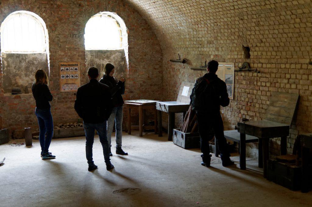 Wnętrza Fortu Va w Poznaniu