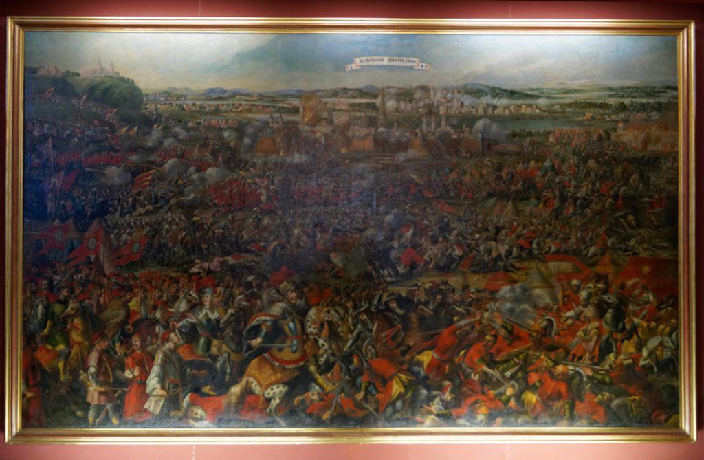 Obraz przedstawiający Bitwę pod Wiedniem w 1683 roku - Autor: nieznany