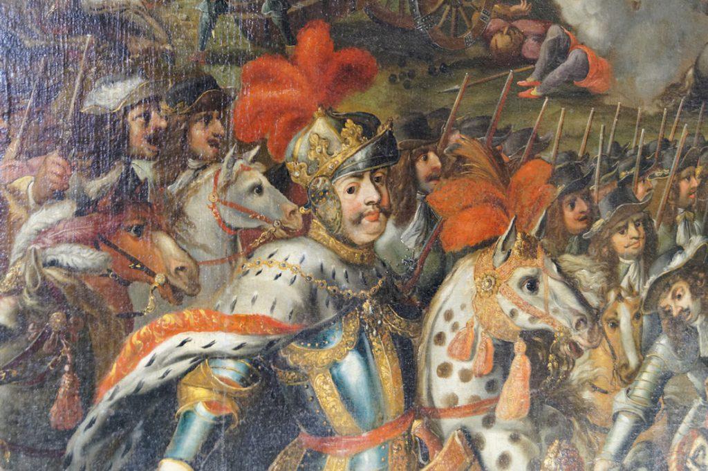 Król Jan III Sobieski przedstawiony na wyżej pokazanym obrazie