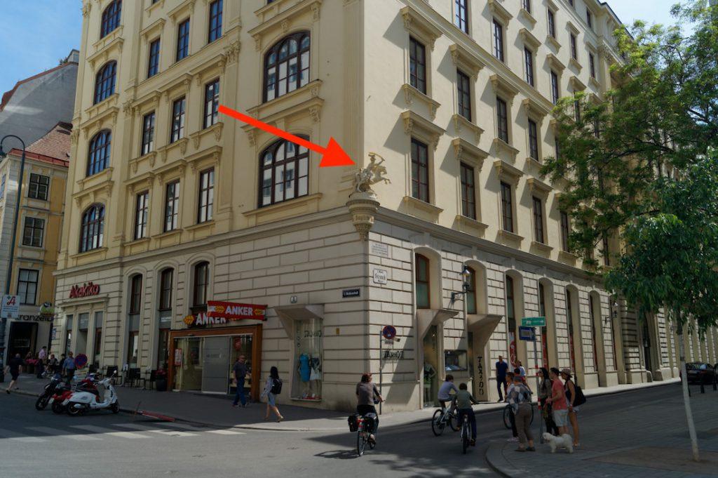 Figura osmańskiego najeźdźcy ulic Heidenschuß i Strauchgasse