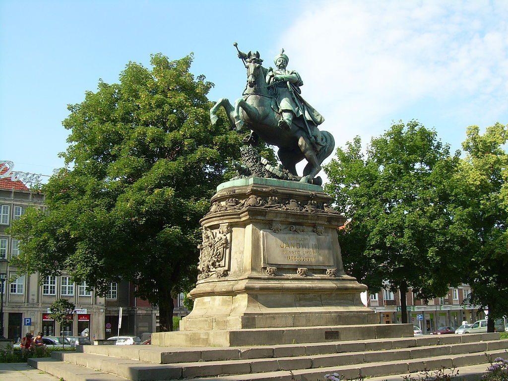 Ten sam pomnik Króla Jana III Sobieskiego przeniesiony do Gdańska - Źródło: commons.wikimedia.org Foto: Nemo