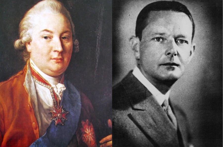 Po lewej Kazimierz Raczyński, po prawej Edward Bernard Raczyński