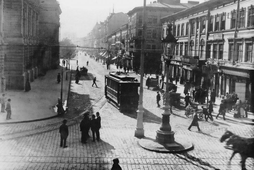 Skrzyżowanie Legionów i Kaźmierzowskiej - Lwów na starych zdjęciach