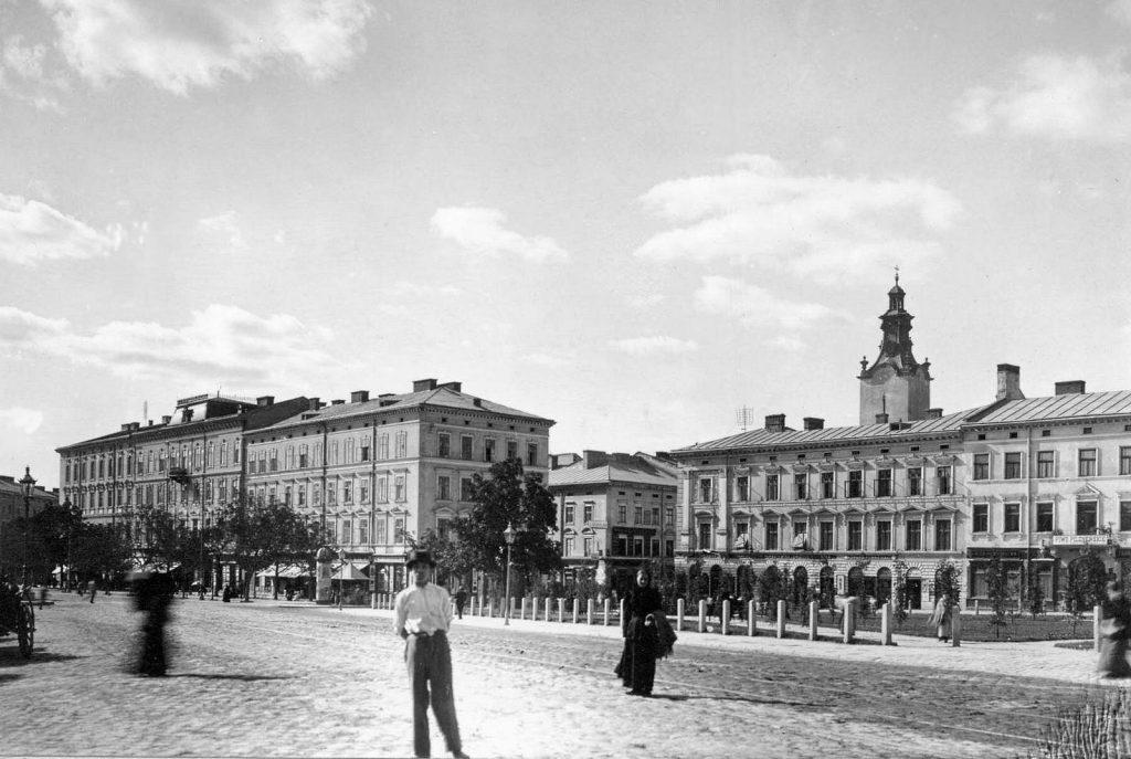 Plac Halicki - Archiwalne zdjęcia z Lwowa