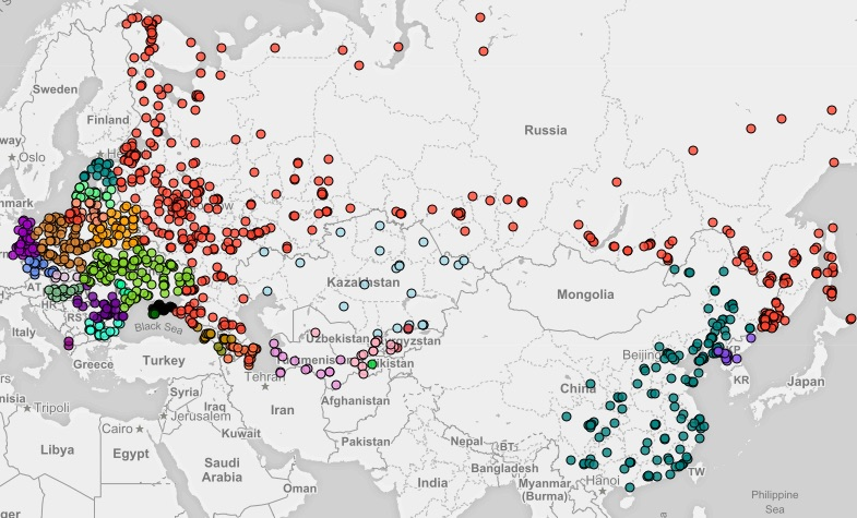 Mapa Celów Ataków Nuklearnych - Źródło: futureoflife.org