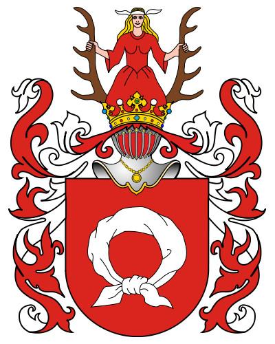 Herb szlachecki Nałęcz - Symbol zawiązanej opaski możemy odnaleźć w wielu miejscach w rogalińskim pałacu