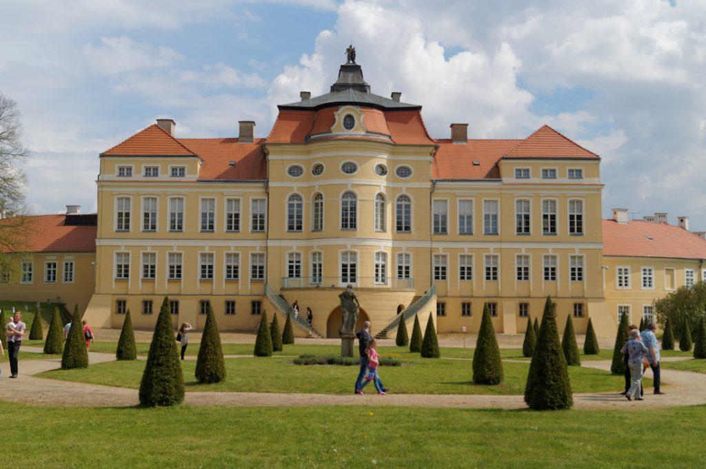 Pałac Raczyńskich od strony rokokowych ogrodów