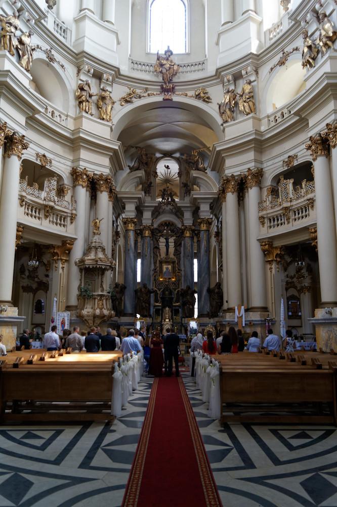 Wnętrze dawnego Klasztoru Dominikanów we Lwowie