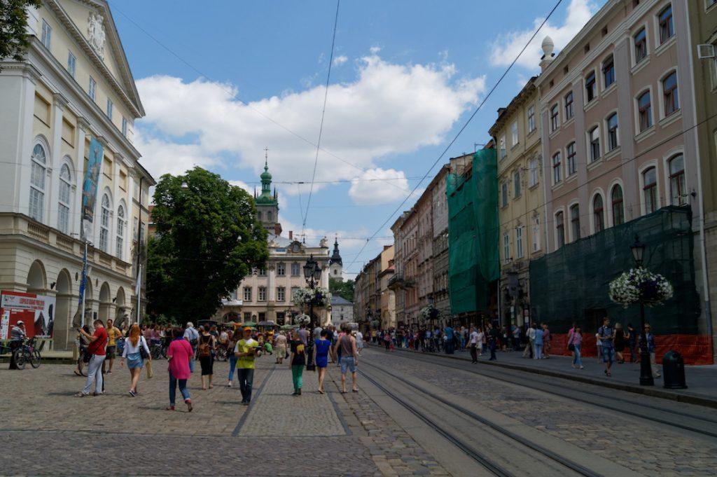 Piękny rynek we Lwowie - Wyjazd turystyczny na Ukrainę