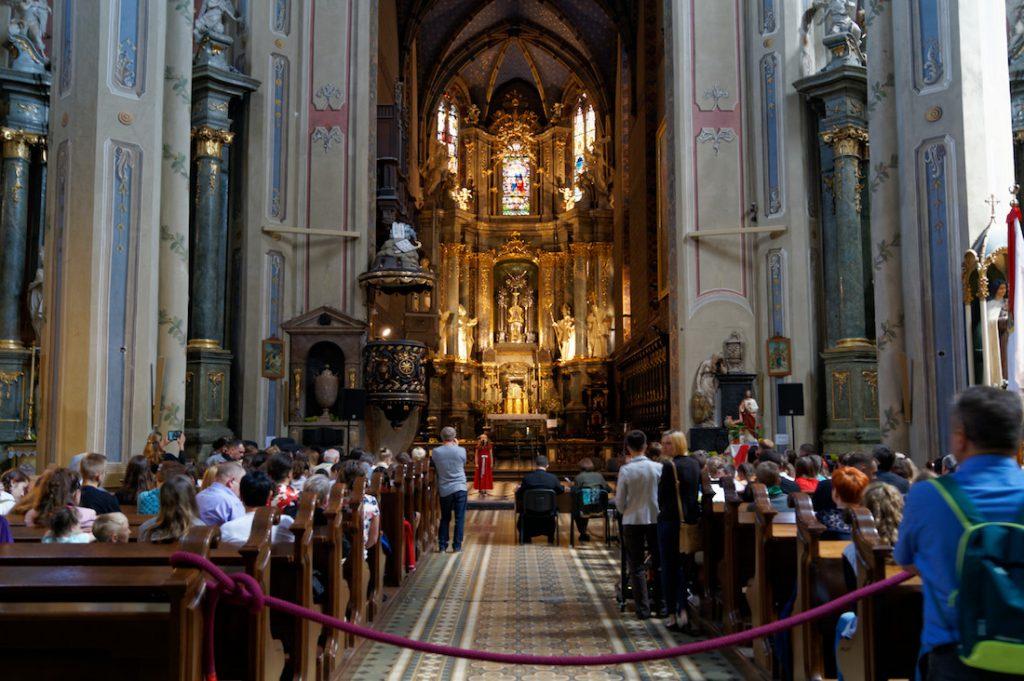 Wnętrze Katedry Łacińskiej
